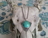 Chrysocollo and Sterling Pendant