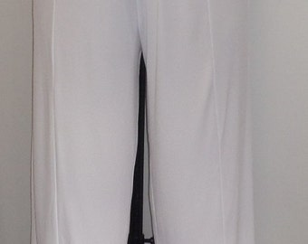 Coco and Juan,Plus Size Pants, Lagenlook, Plus Size Capris, Plus Size Crop Pant, White, Traveler Knit, Women's Crop Pant. Size 2 fits 3X, 4X