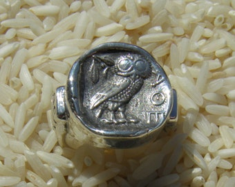 Athenian Owl Coin Replica Mans Ring, Mens Ring
