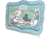Hand Painted Wooden Tray | Whitehouse Easter Artists | Spring Design Tray