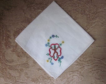 Vintage 1960s Girl Scout Handkerchief Hanky Embroidered