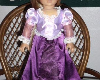 Tangled Rapunzel Costume Dress for American Girl 18 inch doll