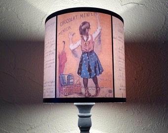 Back To School vintage children Lamp Shade Lampshade - 10 Cloverfield Lane lamp shade, french country decor, shabby chic,nursery,baby's room