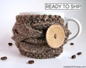 Coffee Mug Cozy, Last Minute Gift, Coffee Cozy, Tea Cozy, Coffee Cup Sleeve, Coffee Cup Cozy, Cup Warmer, Chunky Knit , Knit Coffee Cozy