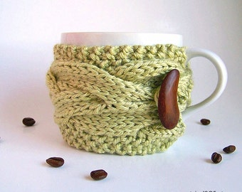 Coffee Sleeve, Tea Cozy, Coffee Cozy, Vegan Gifts, Coffee Mug Cozy, Coffee Cup Cozy, Coffee Cup Sleeve Coffee Mug Sleeve Yoga Gifts Under 20