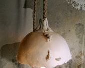 Fantasy woodland rescue scene - a whimsical hanging light in porcelain including wall bracket and LED bulb