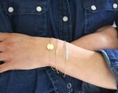 Personalised bracelet set - 3 dainty gold stacking bracelets - save 15%