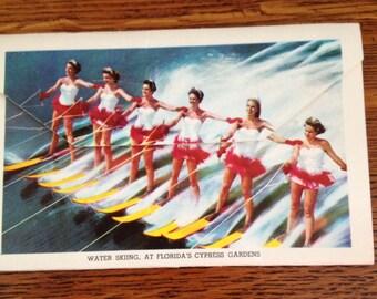 1956 Florida's Beautiful Cypress Gardens  Souvenir Postcard Foldout Booklet