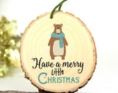 Gifts Under 15 Dollars - Modern Christmas Ornament - Scandinavian Style Ornament - Wood Ornament  -Gift under 10 - XMAS029