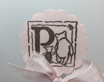 Winnie the Pooh Cupcake Toppers Winnie the Pooh Cake Topper Piglet Cupcake Topper Treat Topper Mini Food Picks Baby Shower Set of 12ECS