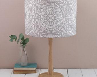 Nickel Grey Lampshade, geometric pattern, grey lighting, contemporary design, lamp shade ceiling shade, pendant fitting, table lamp, drum