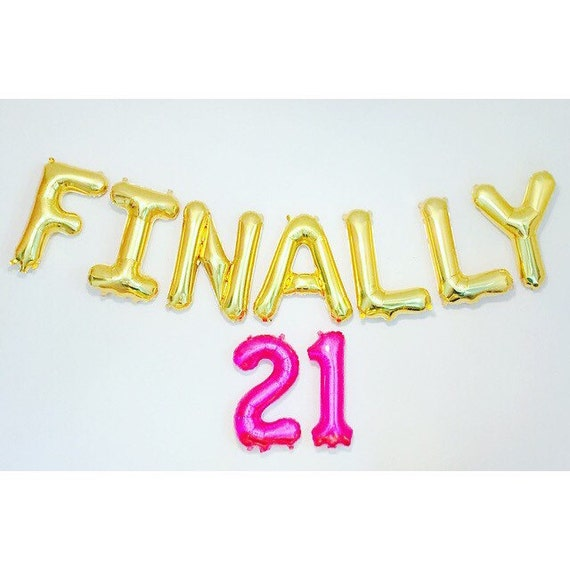 Finally 21 balloons 21st birthday 21st 21 number for 21st birthday decoration packages