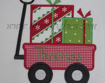 Christmas Shirt Boys or Girls Wagon with Presents Wagon full of Gifts