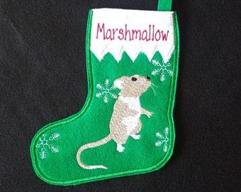 Gerbil  Christmas Stocking-PERSONILIZED