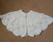Girls Communion Flower Girl Cape - Hand Crochet