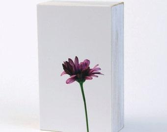 Purple Daisy, Floral Decor, Flower Photography, Photo Block, Minimalism, 3X5 Wood Panel