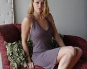 sweater slip dress or nightgown - wool blend womens lounge wear range - MALLARD - made to order