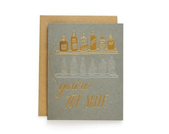 Top Shelf - letterpress card
