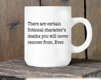 Book Lover Coffee Mug, Fictional Characters Ceramic Mug, Coffee Mug, Coffee Cup Gift, Gift for Him or Her, Coffee Lover, Funny Gift Idea