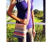 Striped Cross body bag  - Striped Bag / Striped diaper bag / Striped baby bag / Striped handmade bag - Stripe purse