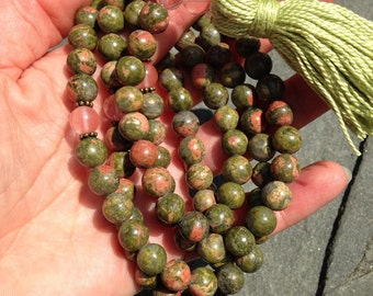 Unakite Mala Necklace