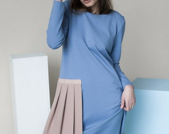 Baby blue dress | Avant garde dress | Studio dress | LeMuse baby blue dress