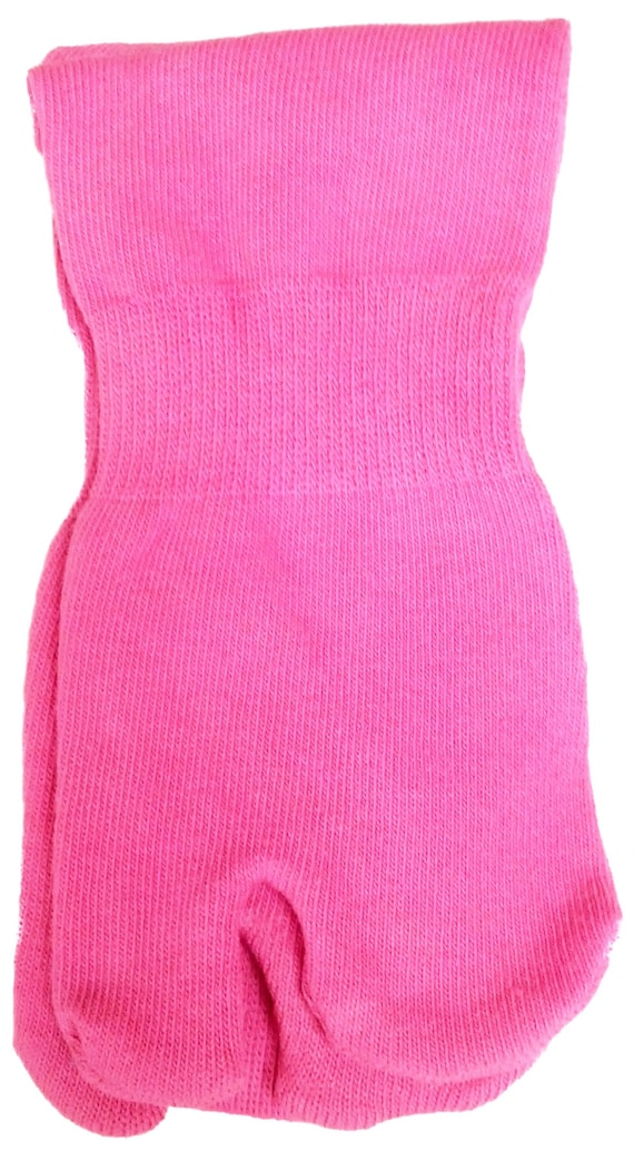 Hand Dyed  Vibrant Deep Pink Tall Tabi Socks Toe Socks