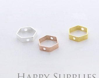 High Quality Hexagon Pendant Charms / Connector with a Two Hole (ZG188)