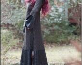 Dress - Steampunk - Bohemian Fashion - Long Dress - Boheme - Gypsy Bohemian - Sexy - Burning Man - Fetish - Size Small