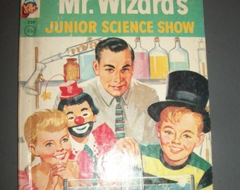 Mr. Wizard's Junior Science Show Vintage Rand McNally Elf Book