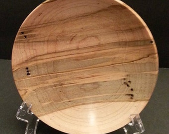 REDUCED WAS 35 Ambrosia Maple Wood Turned Ring or Coin Bowl #2129