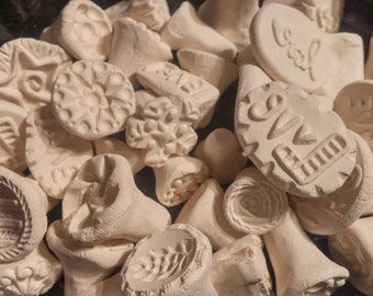 50 CERAMIC texture STAMPS for CLAY, pmc, fimo, and more!