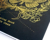 Tattoo Artist Coloring Book - 44 Cardstock Weight Pages - Beautiful Black And Gold Moth Cover - Adult Coloring Book
