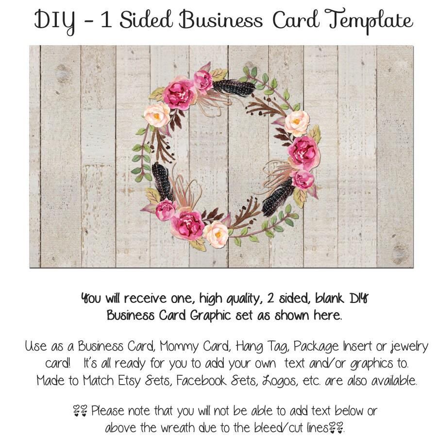 diy blank business card template the aimee wreath made to