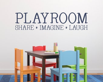 playroom decal share imagine laugh kids wall decal playroom decor children wall