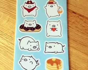Cute Pig Sticker Sheet