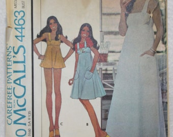 Size 10 Bust 32 1/2, Waist 24 Vintage McCall's Sewing Pattern 4463  Marlo Thomas Wrap Dress in Three Lengths and Panties Marlo's Corner 70s