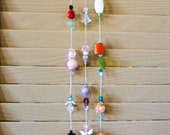 HorseShoe Sun Catcher 3 Strands of Beads Turquois Gem Stones and Crystals     Good Luck  House Gift