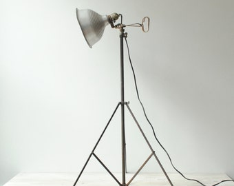 Vintage Tripod Floor Lamp, Photography Spotlight
