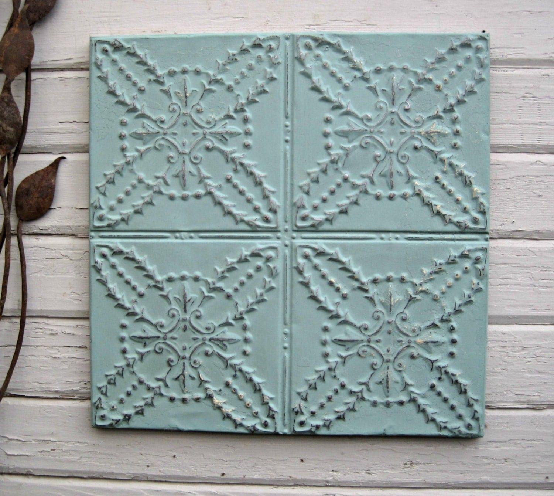 Antique PRESSED TIN. 2u0026#39;x2u0026#39; FRAMED Tin Ceiling Tile.