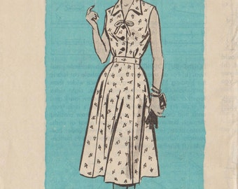 Vintage Mail Order Sewing Pattern 4712 / 1950s Dress / Bust 35