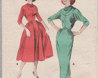 Butterick 8311 / Vintage 50s Sewing Pattern / Dress / Size 14 Bust 34