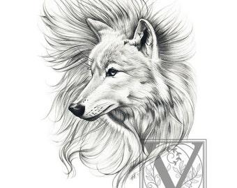 Wolf Print - Wolf Art - Arctic Wolf - Limited Edition Giclée Archival Print - Wildlife Art