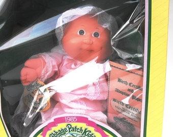 "1985 Cabbage Patch Kids Preemie Baby Doll ""Elizabeth Justinn"" Vintage Coleco CPK Xavier Roberts Retro NIB Nostalgia Nursery Little Girl Gift"