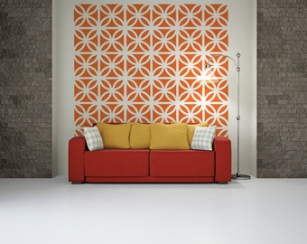Mid Century Modern Bricks, Brick Wall Decals, Mid Century Modern Wall Art, Retro Wall Decal, Geometric Wall Decals, Modern Wall Decal