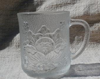 Vintage Cabbage Patch Kids Mug 1984 O.A.A. Glass Mug