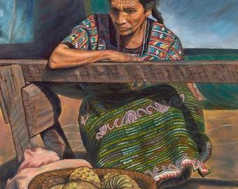 Guatemalan Woman Canvas Giclee Print
