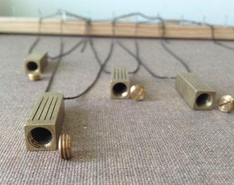 perfume secret vintage canister vial locket necklace