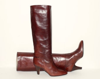 Vintage BALLY Brown Leather Boots 9
