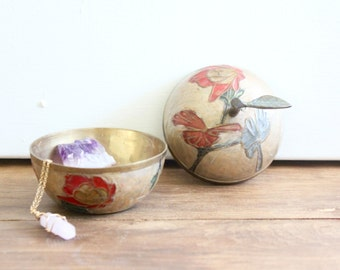 painted brass apple box / india